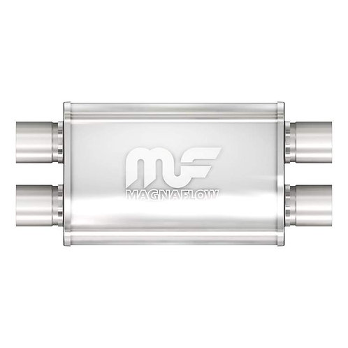 "MagnaFlow 4"" X 9"" Oval Dual/Dual Straight Through Performance Muffler 