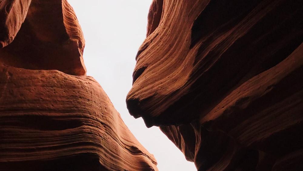 gap between two rock walls