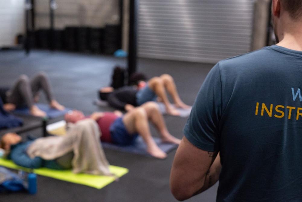 wim hof method workshop breathing session with instructor