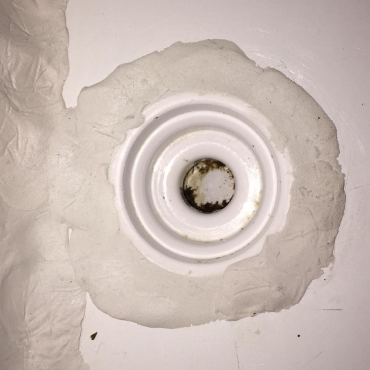 close up of the sealed chest freezer drain hole