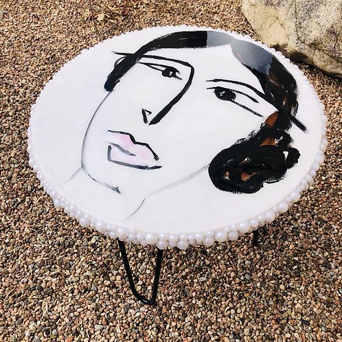 """Pearl Face 18"""" Table [SOLD]"""
