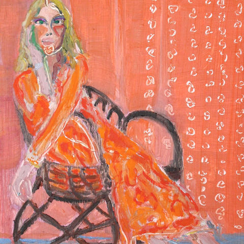 Girl in Modern Chair [SOLD]