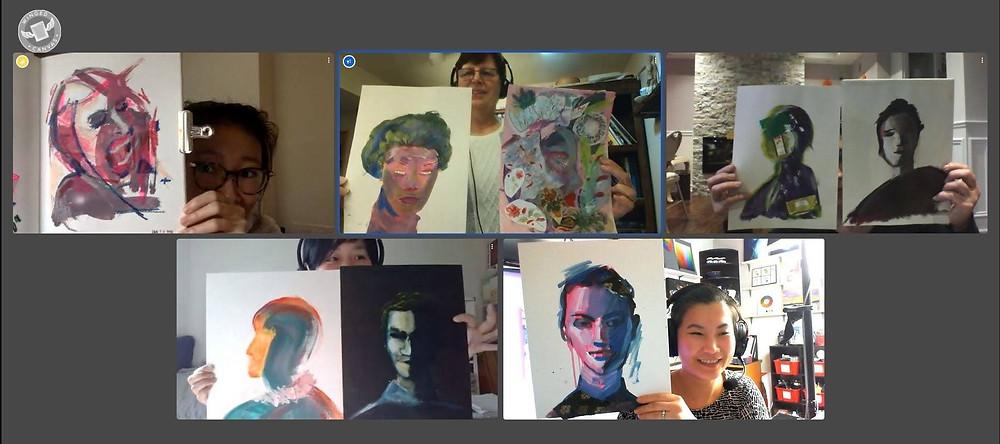 A photo from creative director Fei Lu's virtual art mentorship class.