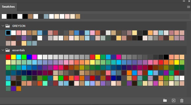 An image of many swatches.