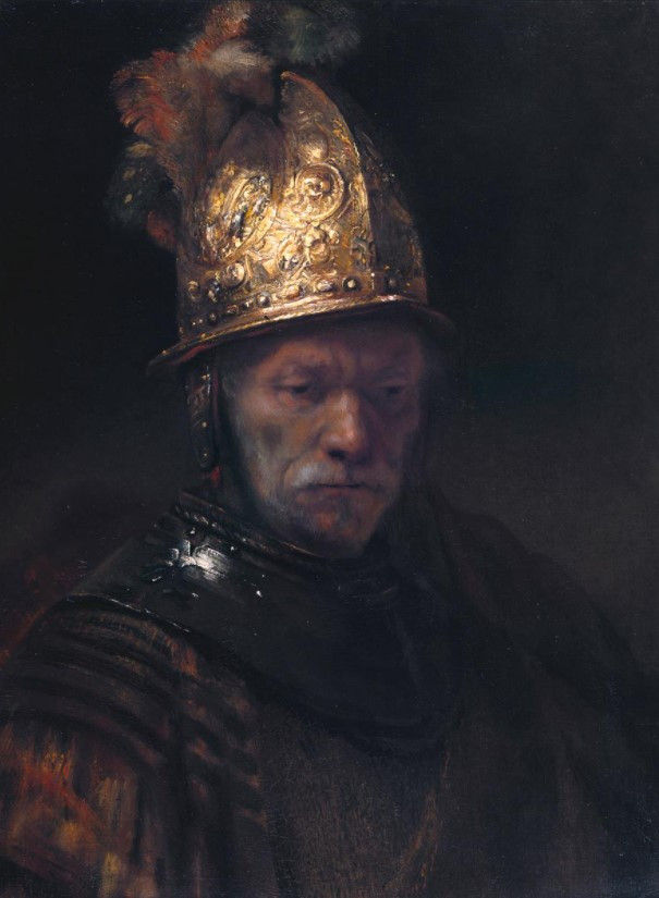 Man with a Golden Helmet by Rembrandt