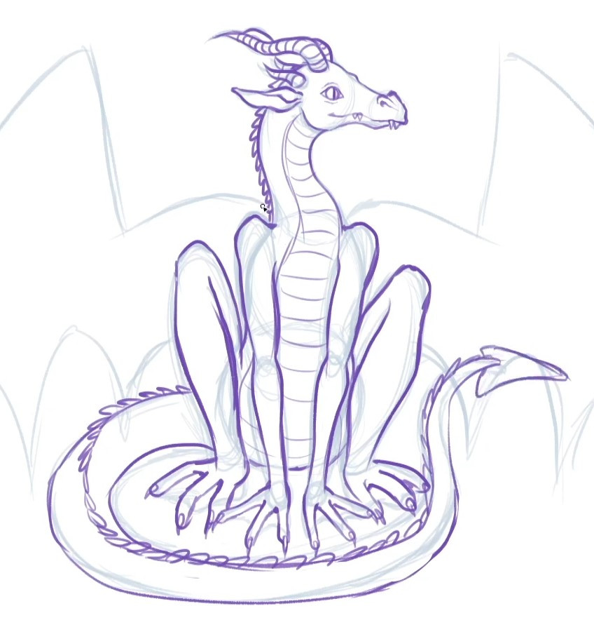 the tail, now drawn in more detail
