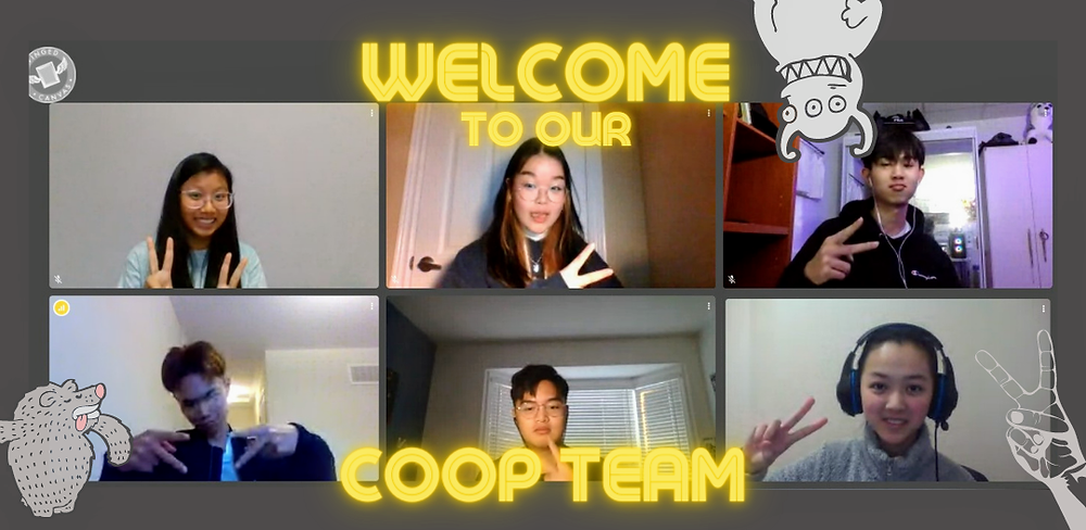 An image of the Winged Canvas co-op team. There are six students in total.