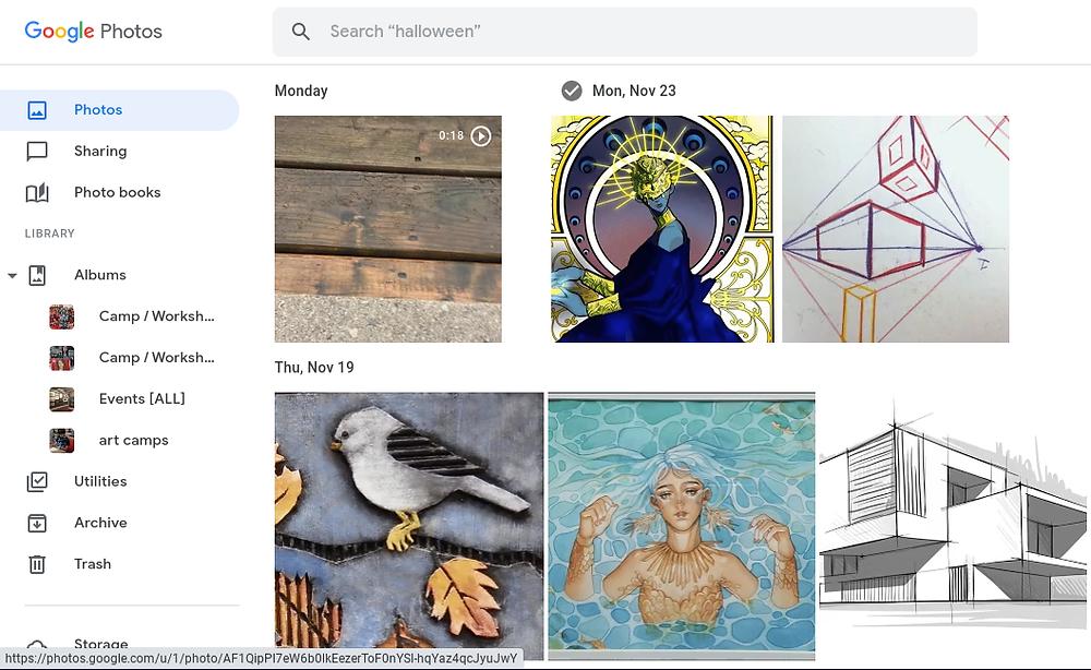 A Google photos window.