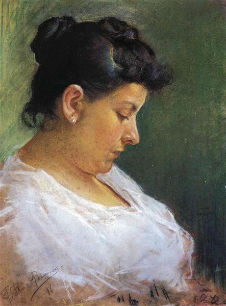Portrait of the Artist's Mother (Pablo Picasso, 1896)