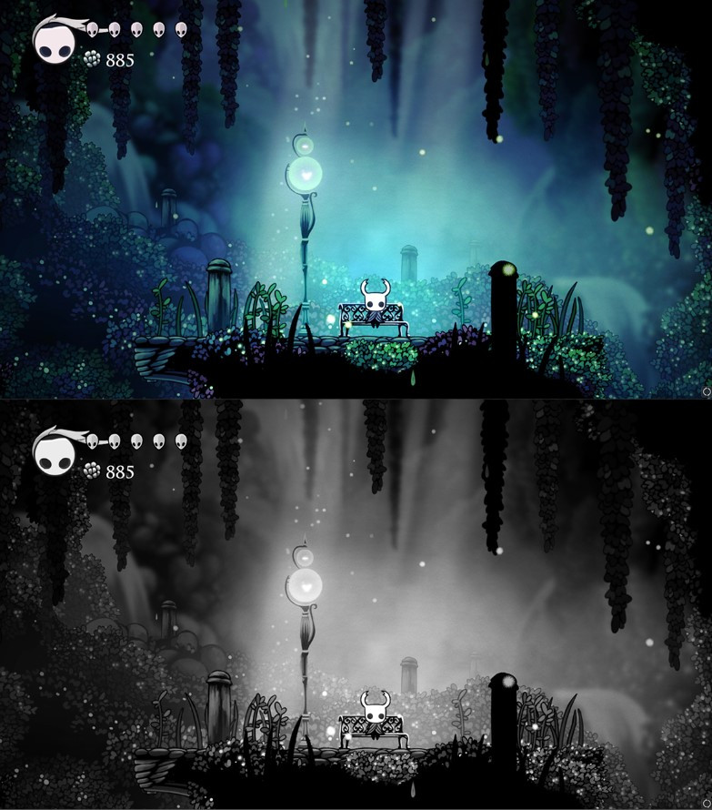 A screenshot from the game Hollow Knight.