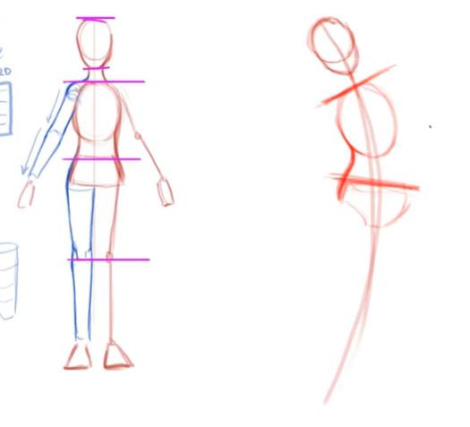 two partially constructed figures drawn by Alyssa Wongso; the figure on the left is perfectly parallel, while the one on the right bends towards the right.