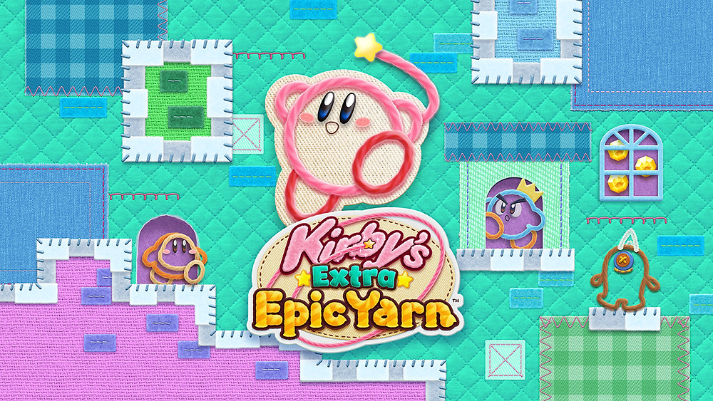cover art for Kirby's Extra Epic Yarn (2019)