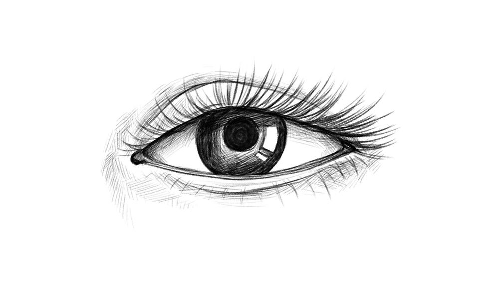 An illustration of a finished eye