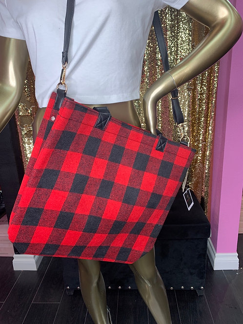 Plaid Crossover Bag