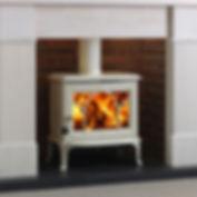 Jotul F100 Ivory stove Greenflame Installations Ltd