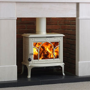 Jotul F100 Ivory stove Greenflame Installations Ltd
