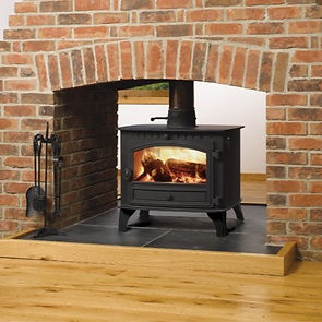 Hunter Herald 6 stove double sided double dept Greenflame Installations