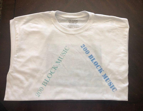 200 Block Music t Shirt