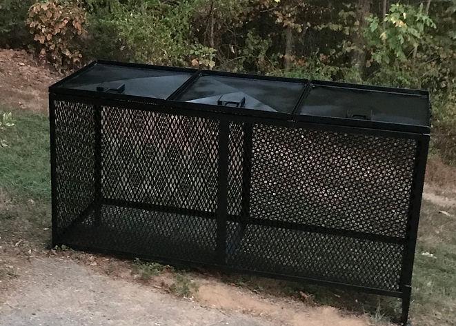 Bear Proof Trash Bins - Triple Cans