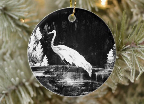 Sandhill Crane Christmas Ornament