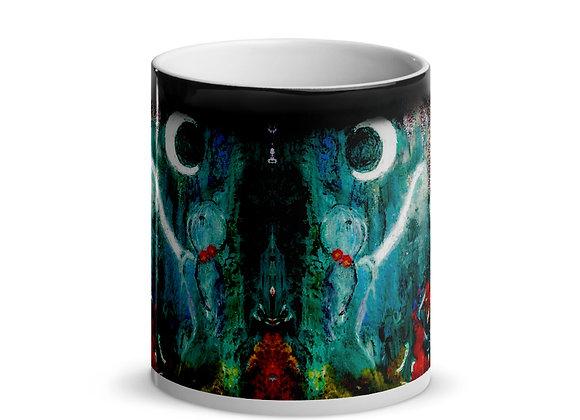 Whimsical Girl Glossy Magic Mug