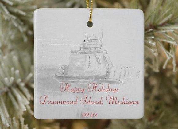 Drummond Island Ferry Boat Ornament 2020