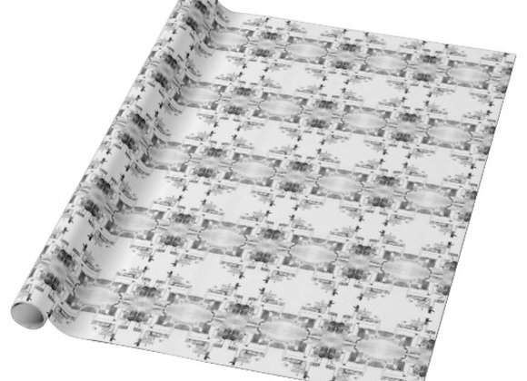 """30""""x6' Drummond Island Ferry Wrapping Paper (Black and White)"""