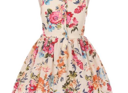 Girls Bold Floral Dress, Size 4T