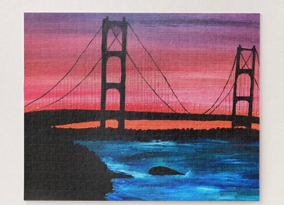 520 Piece Mackinac Bridge Puzzle
