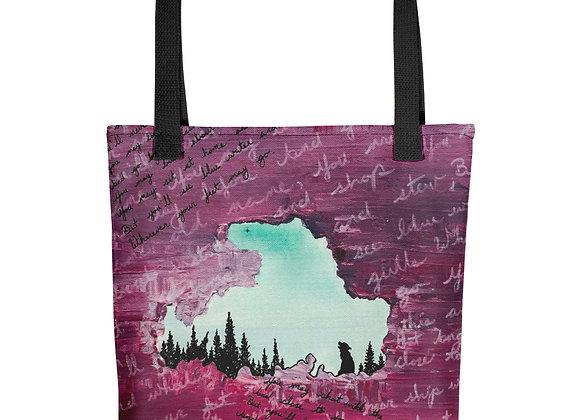Maroon Drummond Island Tote bag