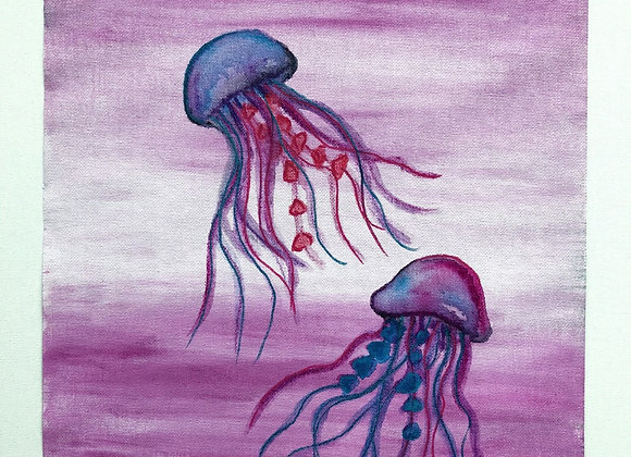 "12""x16"" Original Jellyfish Art"