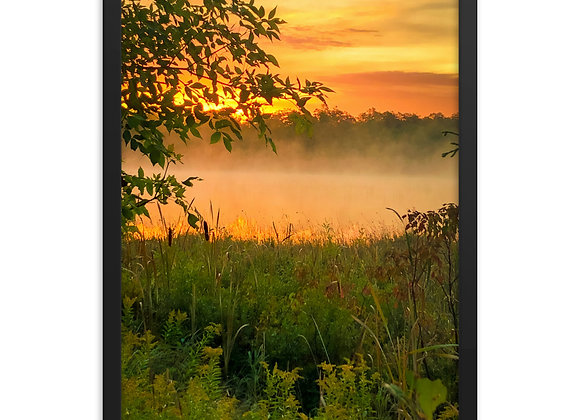 Drummond Island Framed poster (Marl Lake)