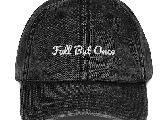 Vintage Cotton Twill Fall But Once Cap