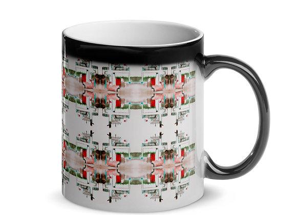 Drummond Island Ferry Pattern Glossy Magic Mug