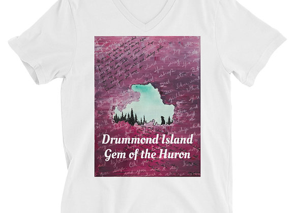 Drummond Island Unisex Short Sleeve V-Neck T-Shirt