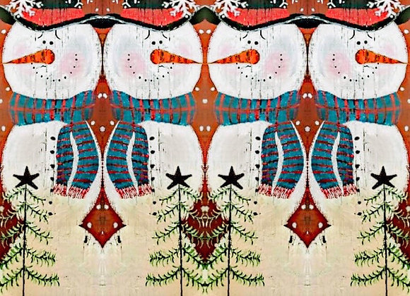"30""x6' Snowman Wrapping Paper (Danielle)"