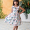 Thumbnail: Cotton Bird Floral Dress, Size 4T and 6T