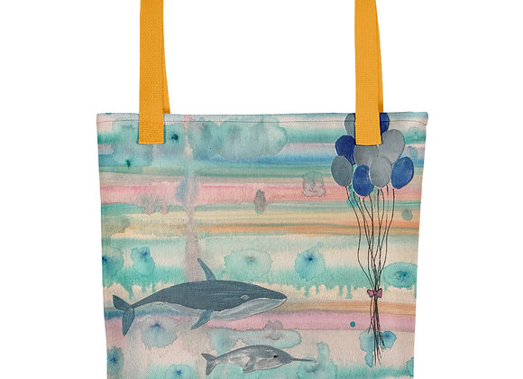 Whale and Narwhal Tote Bag