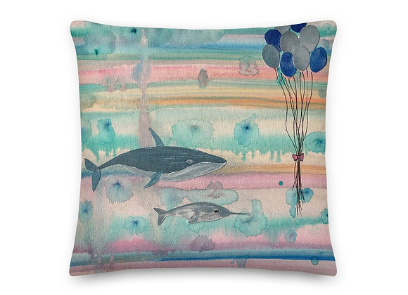 Whale and Narwhal Premium Pillow