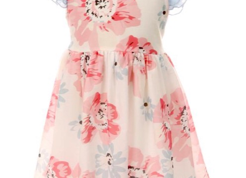 Ruffle Floral Dress, Size 8T