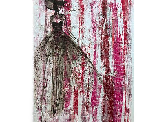 Unframed Poster Print of Original Acrylic Fashion Painting