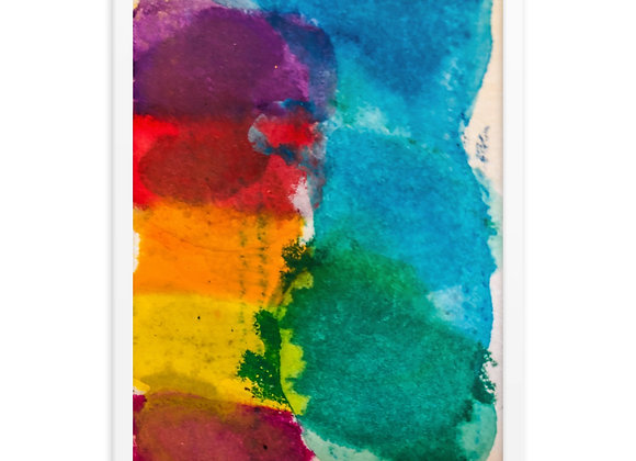 Abstract Rainbow Framed Poster Print