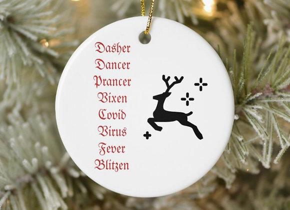 2020 Reindeer Covid Ornament