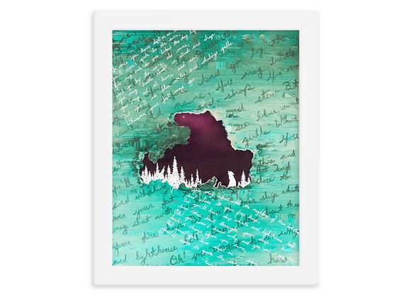 Drummond Island Framed Poster Print