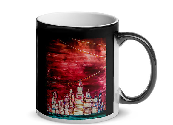 Chicago Skyline Glossy Magic Mug