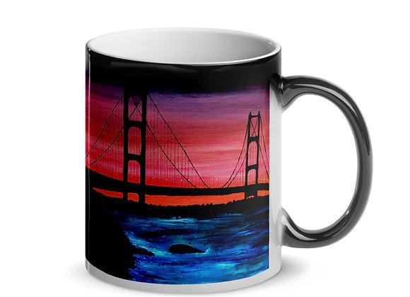 Mackinac Bridge Glossy Magic Mug
