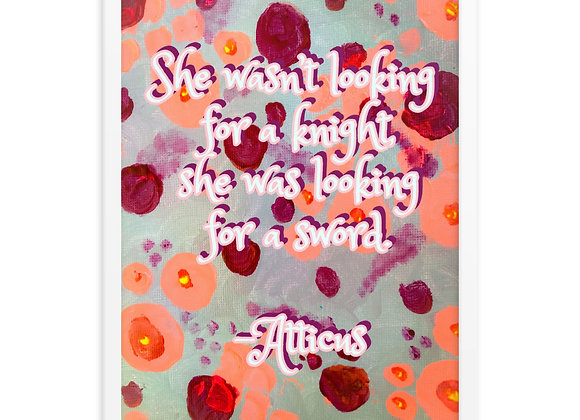 Atticus Quote Framed Poster Print