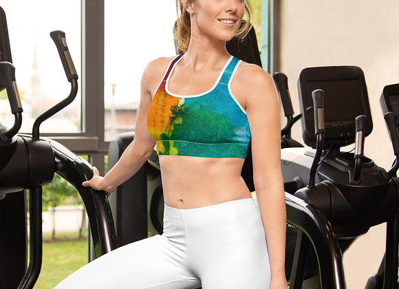 Abstract Rainbow Sports bra