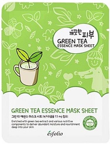 Green tea and coffee mask