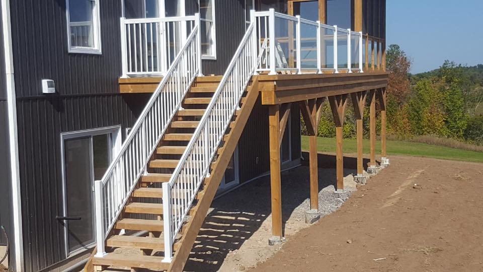 Exterior Railing Spindled and Glass